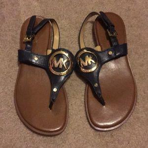 Navy blue MK sandals